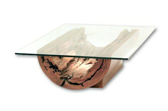 Les 25 meilleures id es concernant tables basses en forme - Table basse bois et verre ...