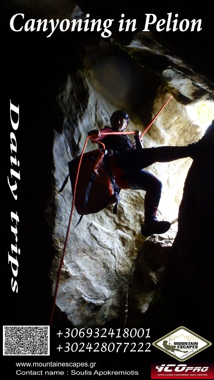 Canyoning in Pelion