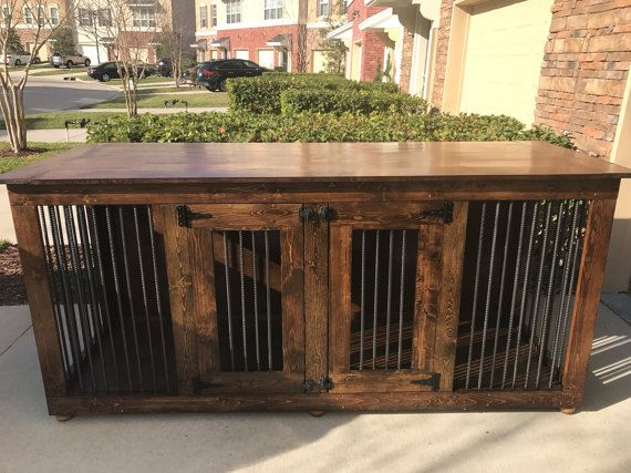 Dog Crate/Kennel Entertainment Center by TheEighthDayCreation