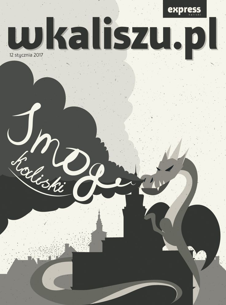 Ilustracja i projekt okładki do gazety o smogu kaliskim