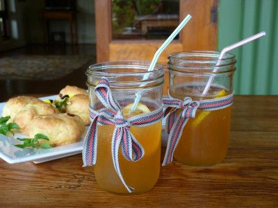 Ice tea and scones at Three Tree Hills in South Africa