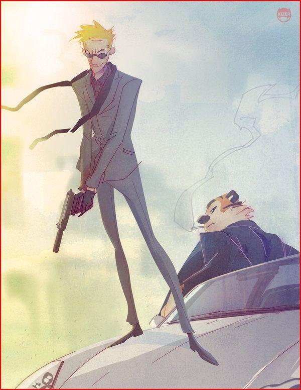 Secret Agent Calvin Hobbes by CoranKizerStone.deviantart.com on @DeviantArt... I love this series of his!
