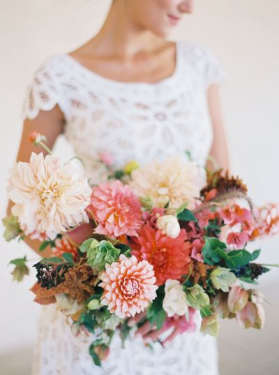 Fall hued dahlias: http://www.stylemepretty.com/2015/09/14/25-breathtaking-bouquets-perfect-for-fall/