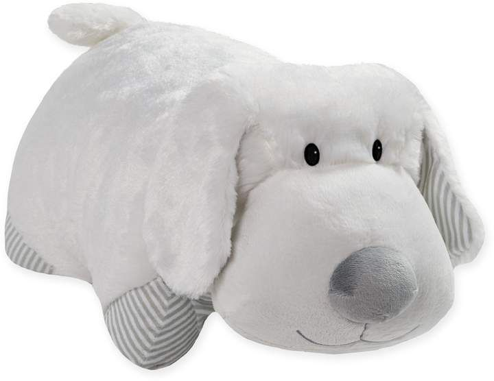 Pillow Pets My First Puppy Pillow Pet In White Chenille Pet Polyester Puppy Pillows Puppy Plush Toys