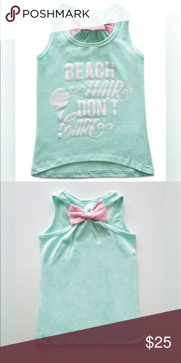 🎀Bow back tank top🎀 🎀 Bow back tank top🎀 Beach hair don't care tank top 95% cotton 5% spandex Shirts & Tops Tank Tops