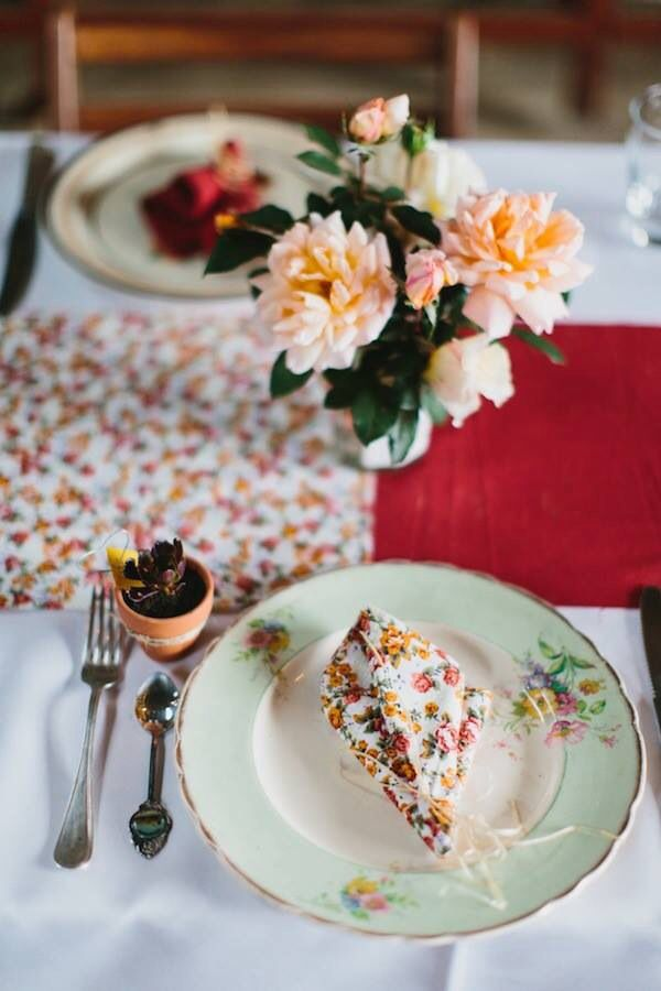 Table decorations #barnwedding #fallwedding #colourful #diy Photo by Erin + Tara