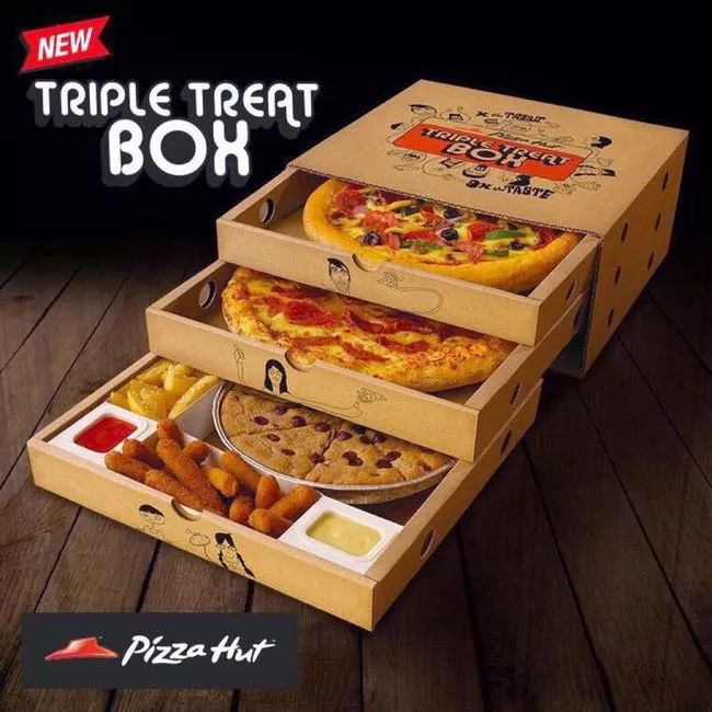 Pizza Hut Triple Treat Box is listed on the list The Craziest Food Abominations of All Time