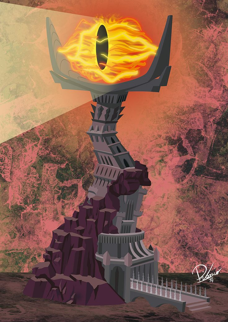 Sauron - caricature by Ribosio #thelordoftherings