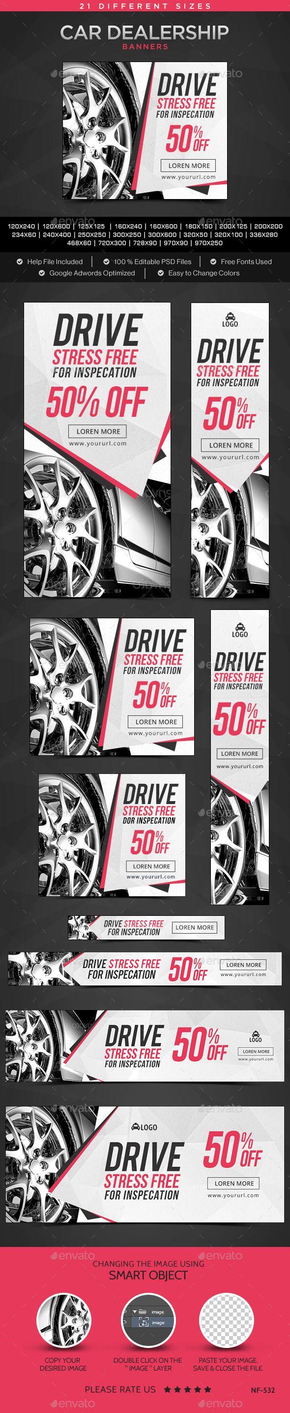 Car Dealership Banners Template #design Download: http://graphicriver.net/item/car-dealership-banners/12239250?ref=ksioks