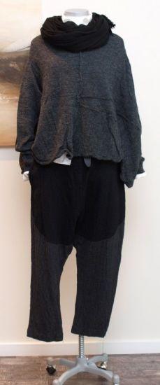 rundholz - Pullover A-Linie gekochte Wolle anthra - Winter 2013