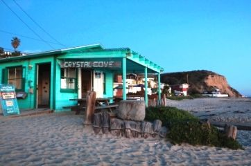 Camping isn't that bad when it's on the sand ;)   Crystal Cove Beach Cottages - Orange County CA