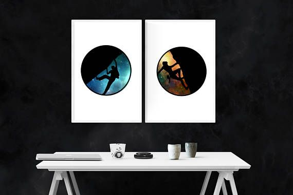 Rock Climbing/Bouldering print set! Great gift for any adventure enthusiasts or thrill seekers in your life! Available for sale as an instant digital download on Etsy