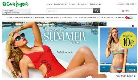 summertime el corte ingles moda baño 2014 bikinis