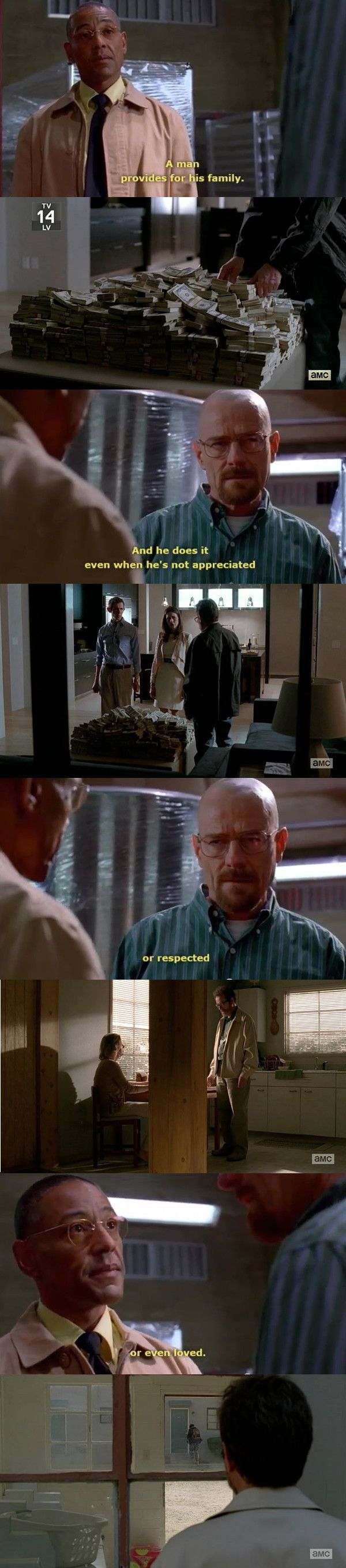 What does a man do, Walter? A man provides for his family. ~Gus Fring // Breaking Bad #breakingbad