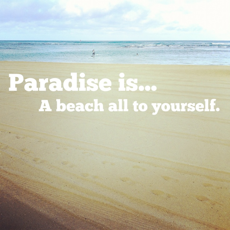 A beach all to yourself. #paradiseis #Hawaii