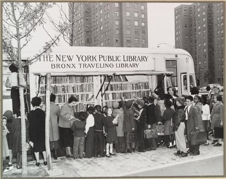 1950s bookmobile - Brooklyn: York Public, Pictures Books, Brooklyn 1950S, Mobiles Libraries, New York, Public Libraries, Bookmobil In Pictures, Travel Libraries, 1950S Bookmobil