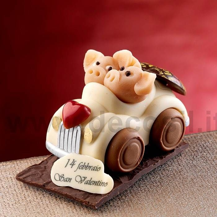 Car - Professional silicone moulds for the creation of Birthday sugar or chocolate 3D cake toppers