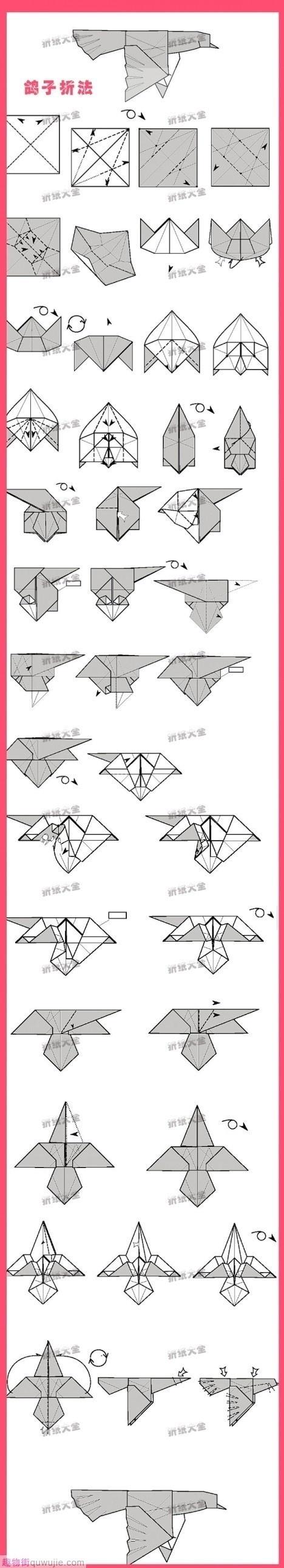 Origami Pigeon #origami
