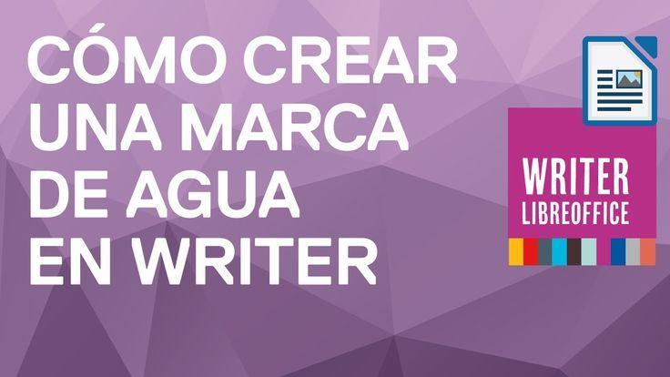 Cómo crear una marca de agua en Writer de LibreOffice