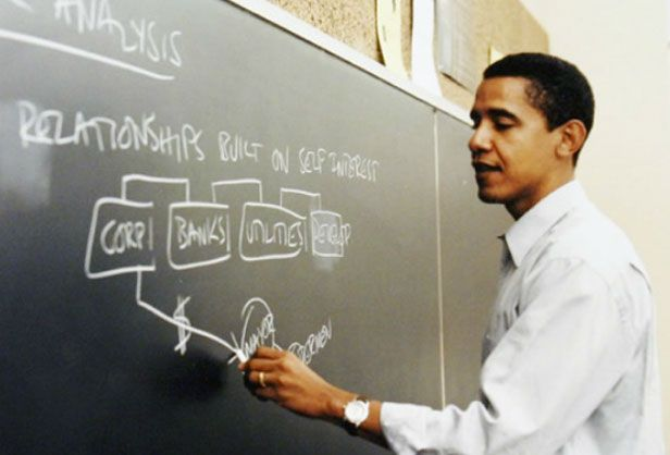 Barack Obama was the first African-American president of the Harvard Law Review. He entered Harvard Law School in 1988, and was selected to head the journal in his second year.