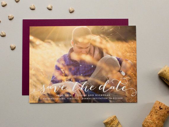 Enchant  Vintage Wedding Save the Date  Full by BanterandCharm, $100.00