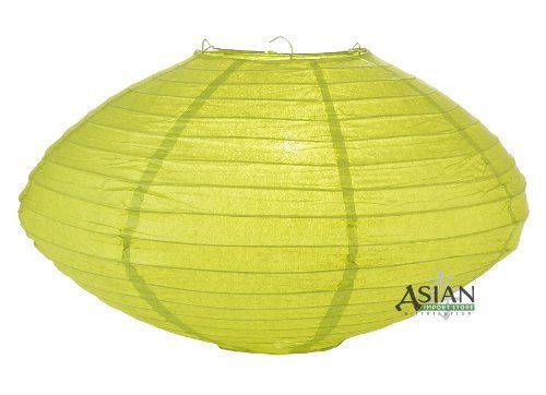 """16"""" Chartreuse Saturn Paper Lantern by Asian Import Store, Inc.. $4.50. This Saturn paper lantern has a unique UFO shape.. Lantern is held open with a wire expander.. Dimensions: 16"""" dia x 9""""H. (All lanterns sold without lighting, lighting kits must be purchased separately). This Saturn paper lantern has a unique UFO shape. Lantern is held open with a """"C"""" hook expander.  Dimensions: 16"""" dia x 9""""H  (All lanterns sold without lighting, lighting kits must be purchased separately)"""