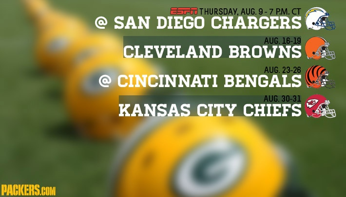 Preseason schedule released! Football officially on the horizon. GO PACK GO!