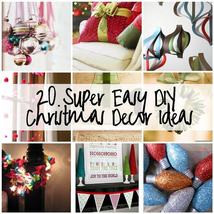 DIY Christmas Decor Ideas!: Decor Ideas, Diy'S, 20 Super, Buttons Ornaments, Super Easy, Holidays, Diy Christmas Decor, Christmas Ideas, Easy Diy