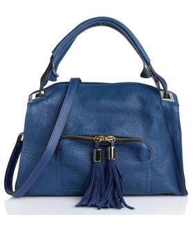 Sac cuir Bleu by SANDRO