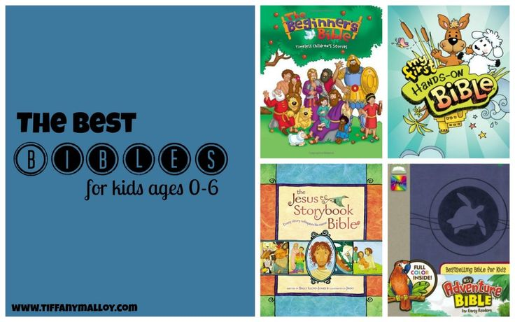 Our most-loved Bibles for ages 0-6!