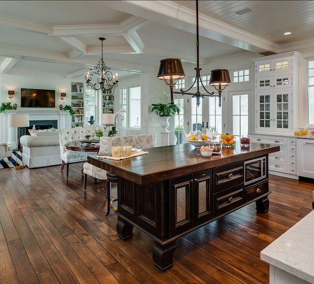 A Traditional Lake House Designed By Edward Postiff Interiors In Michigan. Kitchen  Family RoomsKitchen ...