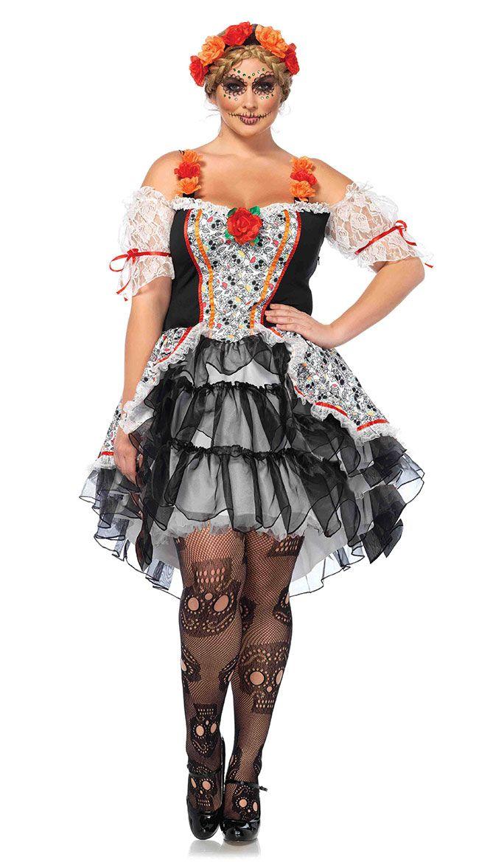 d882c760900 Plus Size Sugar Skull Senorita Costume#Sugar,#Size,#Skull | Coca ...