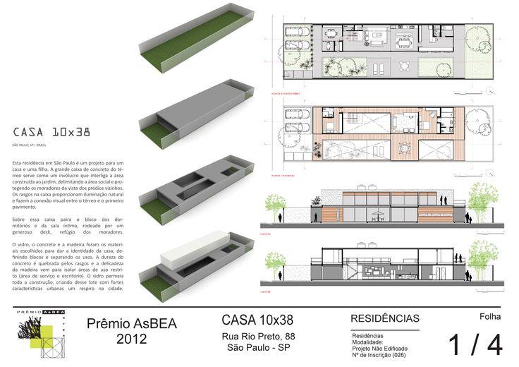Imagem 7 de 8 da galeria de Casa 10x38 / CR2 Arquitetura. Prancha 01