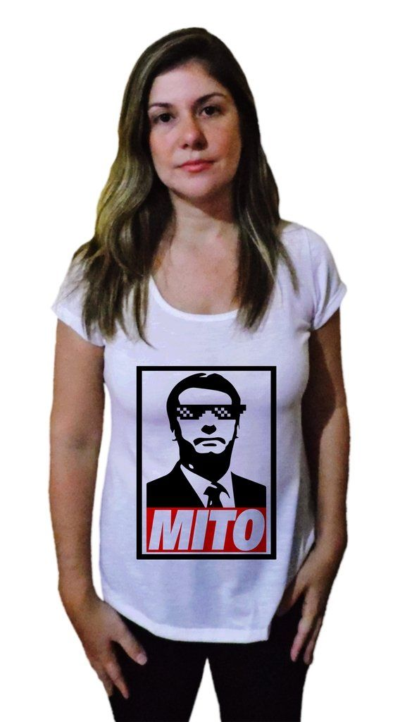 b9a9e56082 Veja nosso novo produto Camiseta Feminina Bolsonaro Mito Estilizado - 21  Camiseteria! Se gostar