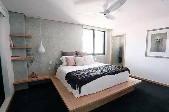 The Block Sky High: Room Reveal: Kim + Matts master bedroom