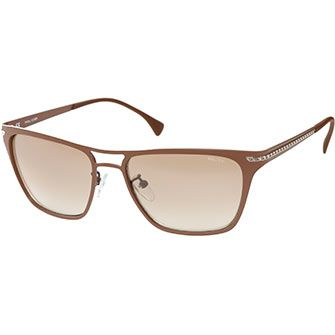 Police Brown Aviator Sunglasses