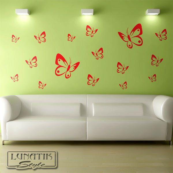 Lovely Wandtattoo Schmetterling Set XL St ck WB
