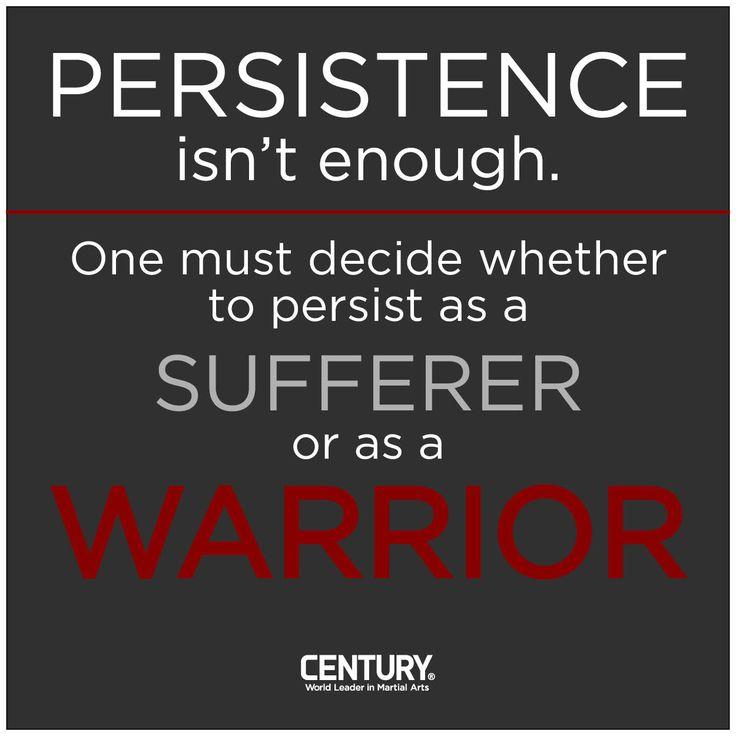 Decide what you want to be #presistent at. www.quantummartialarts.com.au #martialartssydney #selfdefencesydney