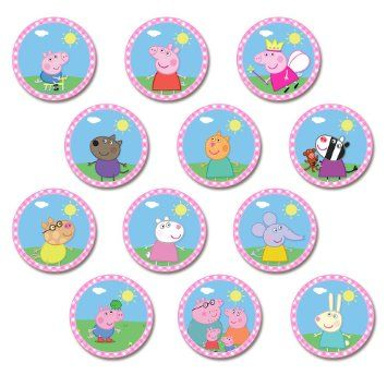12-peppa-pig-cupcake-toppers-pink-plaid-printable-digital-download_10626243.jpeg (355×355)