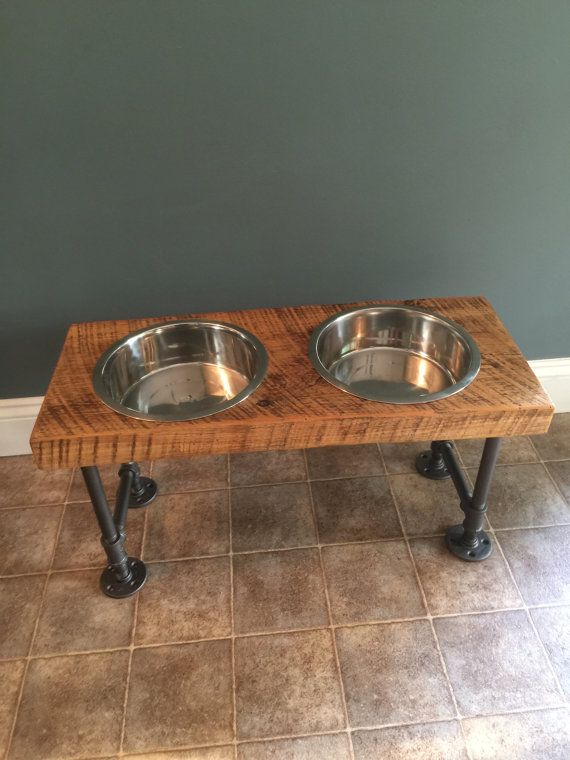 XX-Large Reclaimed Barn Wood Dog Bowl Feeder by CaseConcepts2000