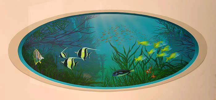 Les 25 meilleures id es de la cat gorie aquarium mural sur for Aquarium decoratif mural