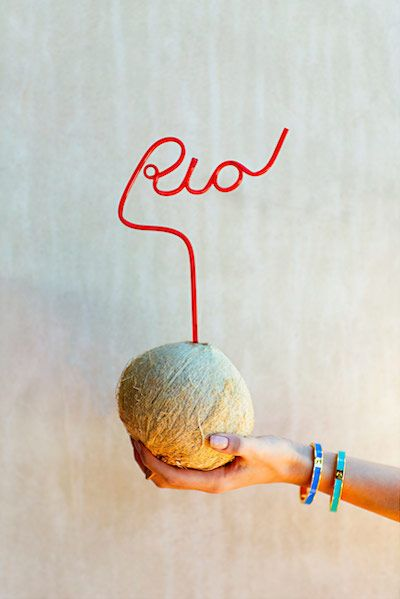 coconuts + crazy straws // Rio de Janeiro inspired Pool Party with kate spade new york