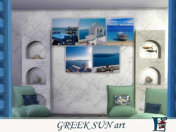 The Sims Resource: Greek Sun art by Evi • Sims 4 Downloads
