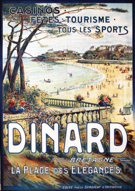 Dinard - Bretagne - La plage des élégances - illustration de Felix Bizien -