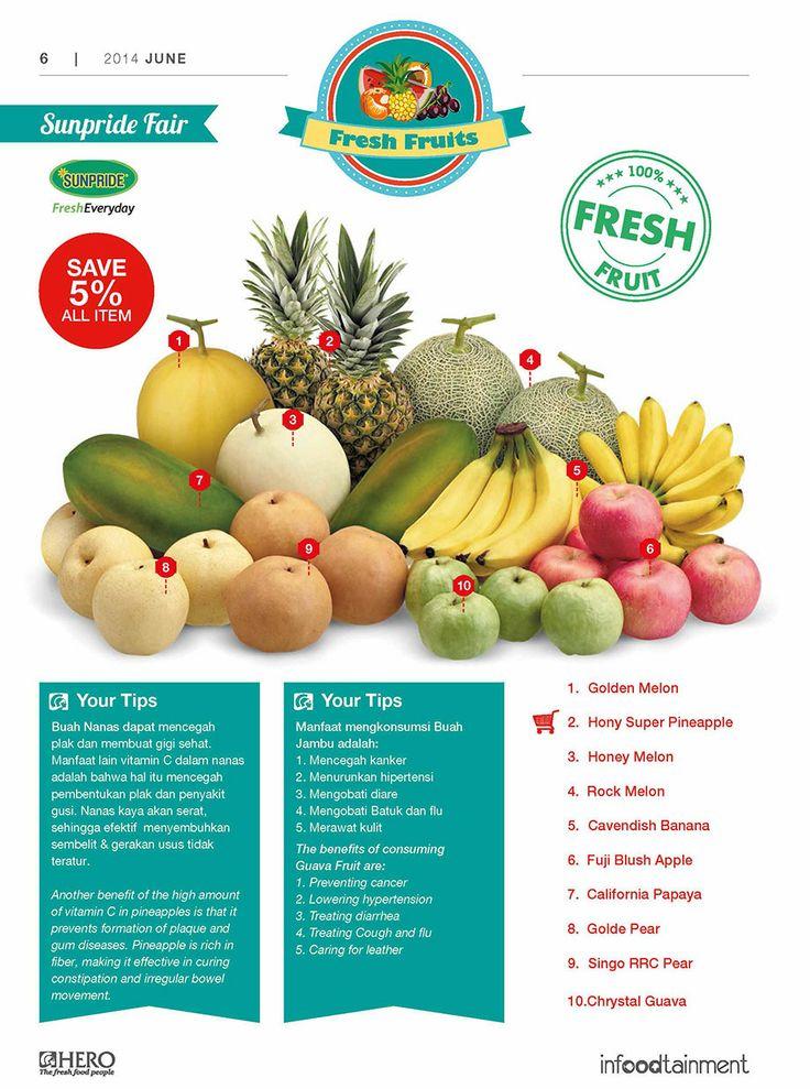 Fresh People, menyambut bulan Ramadhan kurang lengkap jika tidak berbelanja aneka Buah-buahan yang segar di Hero Supermarket.  Ayo berbelanja sekarang juga dan save 5% for all item.