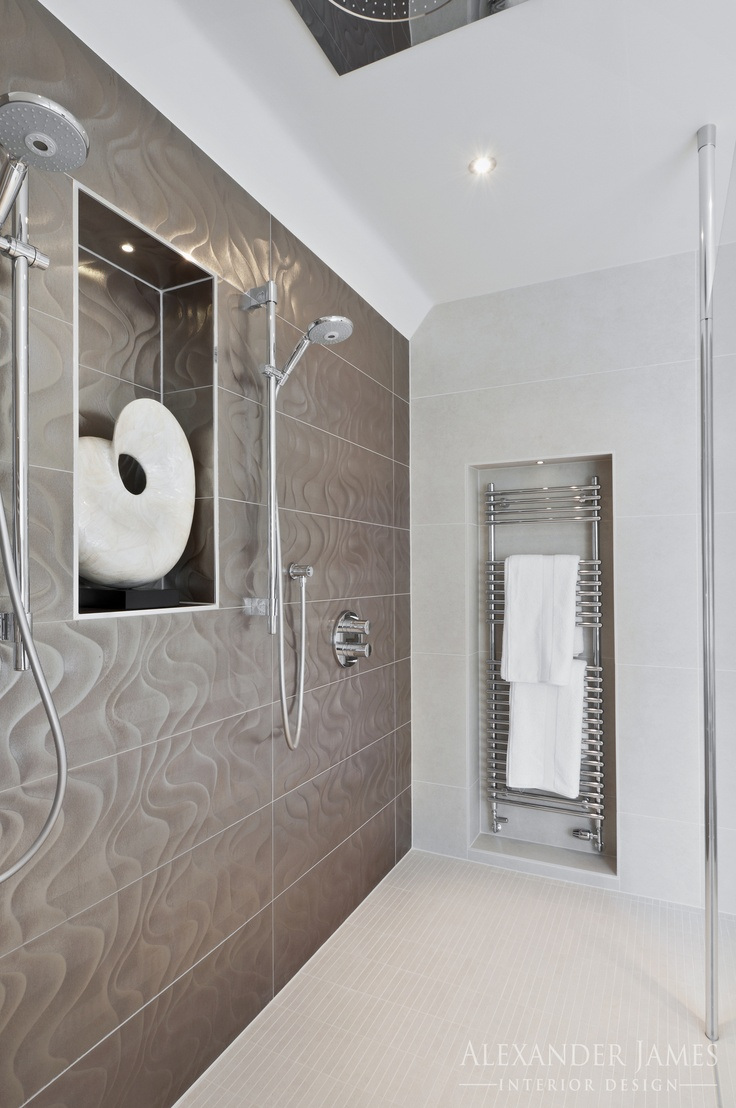 Duel #showers...so you can sing a duet in the shower...#interiordesign #home #bathroom