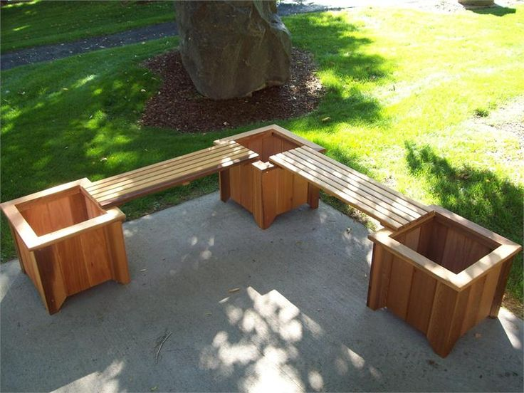 Delightful Extra Seating On Patio, Could Do With Two Planters And One Bench. Three  Cedar Planters/Two Bench Set   Might Be Nice In The Backyard