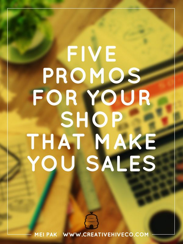 How do you make more sales in your ecommerce site? Use these five types of promos for your shop to start making more sale today.