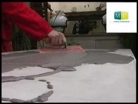 Béton ciré sur table ancienne - polished concrete on an old table, video design - YouTube