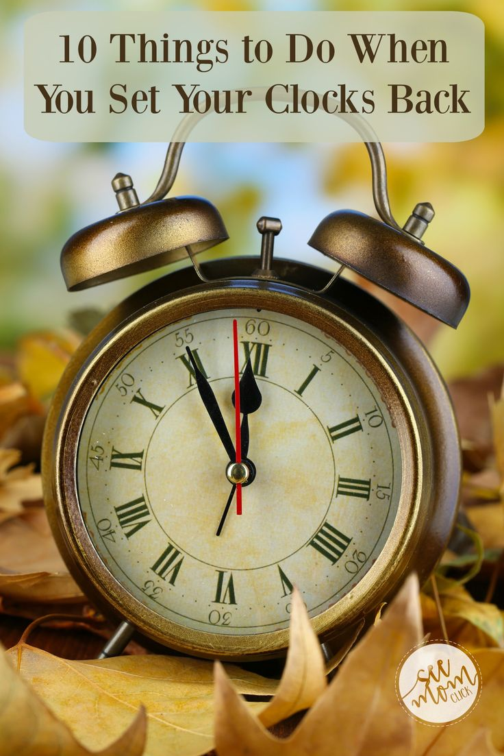 We'll be setting our clocks back soon when Daylight Savings ends. Here's a list of other things to do at the same time you set your clocks back. AD